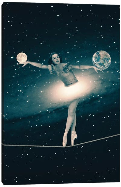 The Cosmic Game Of Balance Canvas Art Print