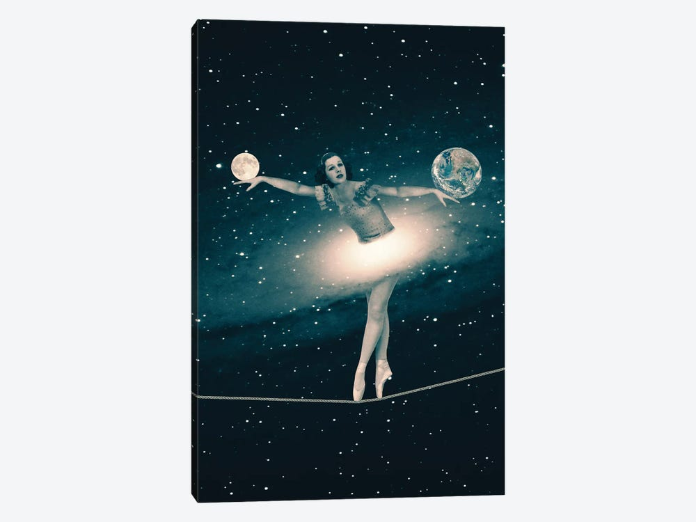 The Cosmic Game Of Balance by Paula Belle Flores 1-piece Canvas Print