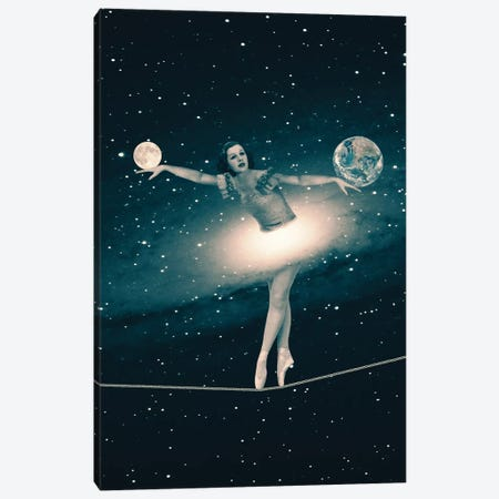 The Cosmic Game Of Balance Canvas Print #PBF52} by Paula Belle Flores Canvas Art Print