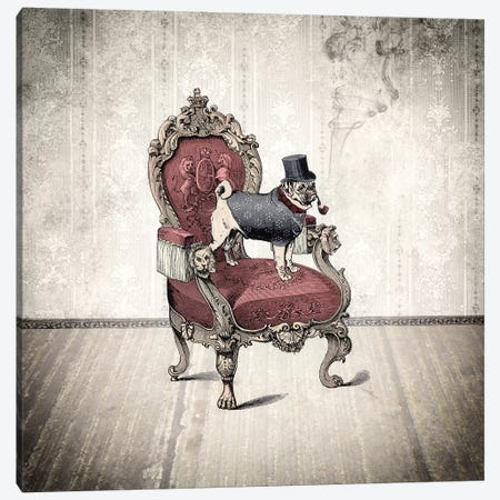 The Imperial Pug Canvas Print #PBF55} by Paula Belle Flores Canvas Art