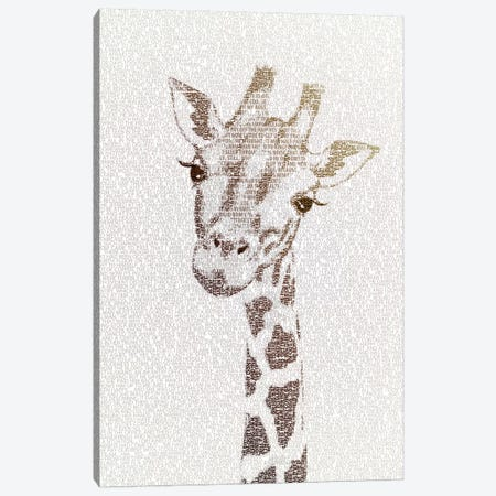 The Intellectual Giraffe Canvas Print #PBF58} by Paula Belle Flores Canvas Print