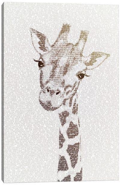 The Intellectual Giraffe Canvas Art Print