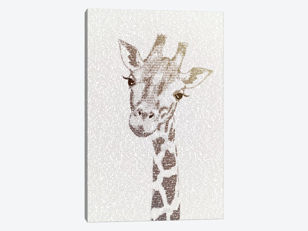 The Intellectual Giraffe by Paula Belle Flores 1-piece Art Print