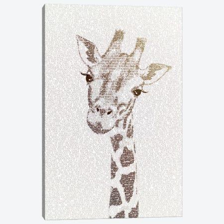 The Intellectual Giraffe Canvas Print #PBF58} by Paula Belle Flores Canvas Print