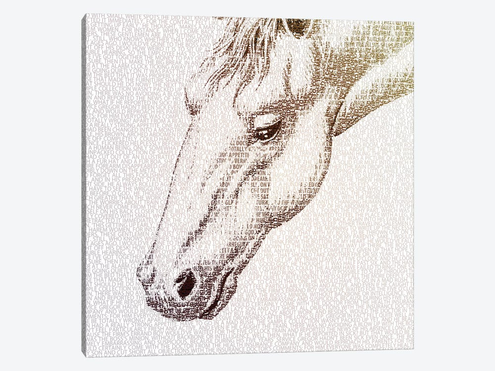 The Intellectual Horse I by Paula Belle Flores 1-piece Canvas Artwork