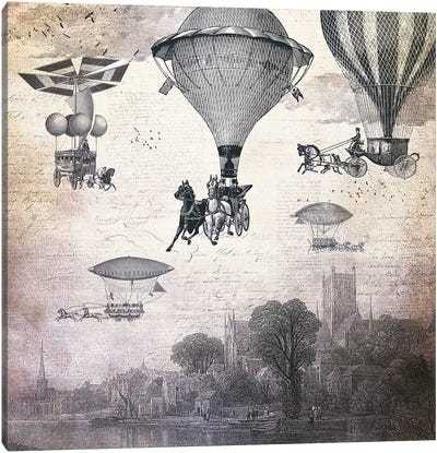 Carrilloons Over The City Canvas Art Print