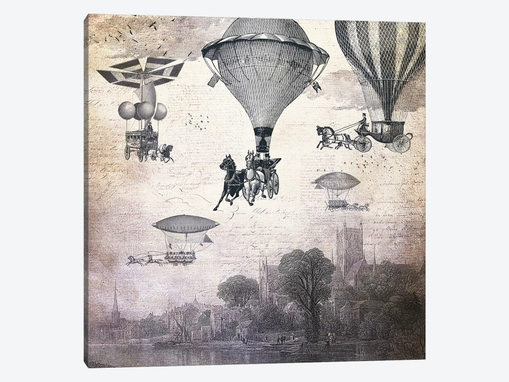 Carrilloons Over The City by Paula Belle Flores 1-piece Canvas Print