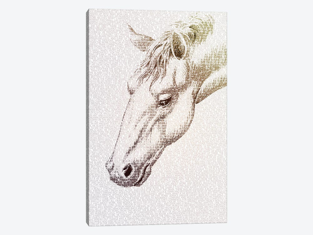 The Intellectual Horse II by Paula Belle Flores 1-piece Canvas Art