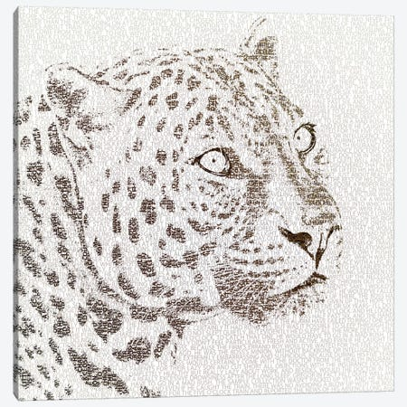 The Intellectual Leopard Canvas Print #PBF61} by Paula Belle Flores Canvas Art