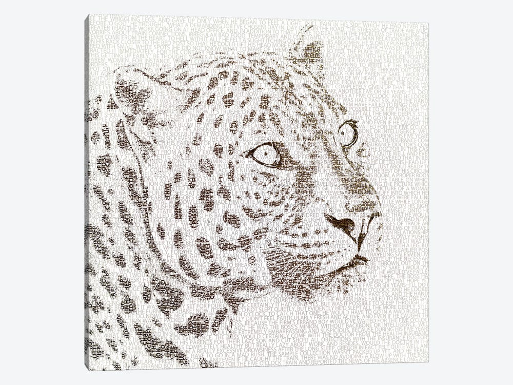 The Intellectual Leopard by Paula Belle Flores 1-piece Art Print