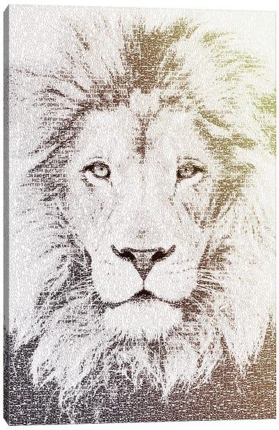 The Intellectual Lion Canvas Art Print