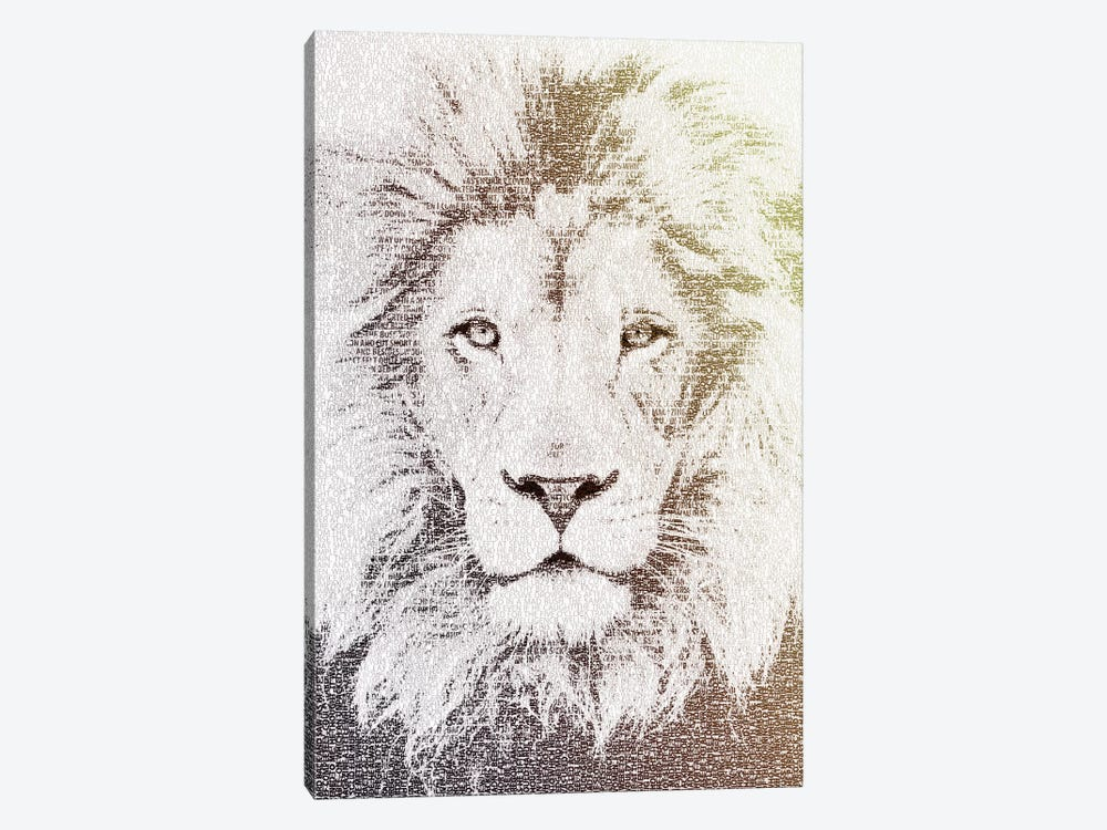 The Intellectual Lion by Paula Belle Flores 1-piece Canvas Artwork