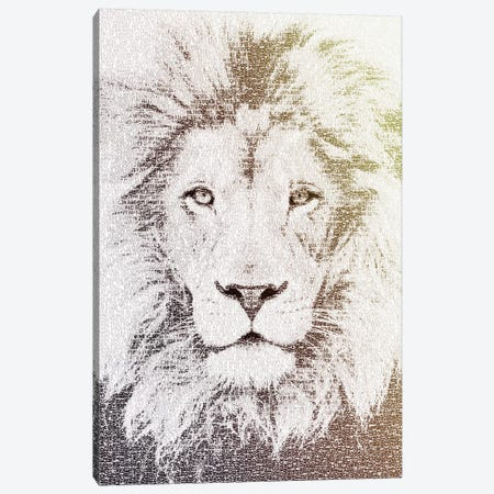 The Intellectual Lion Canvas Print #PBF62} by Paula Belle Flores Canvas Artwork