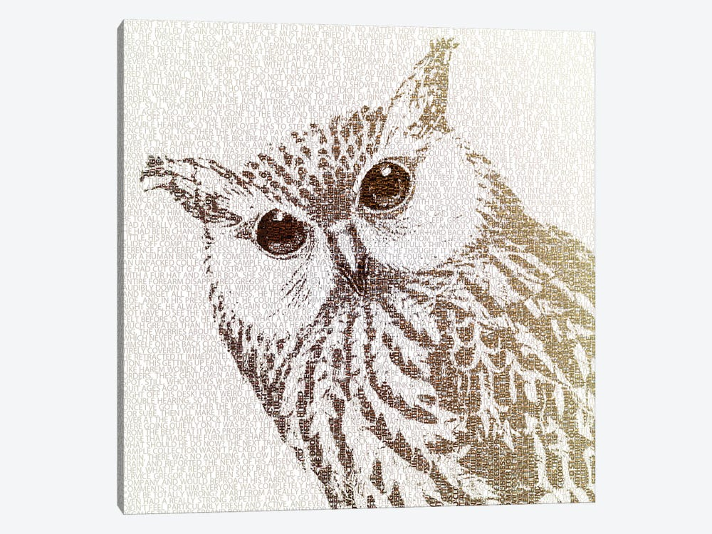 The Intellectual Owl I by Paula Belle Flores 1-piece Canvas Print