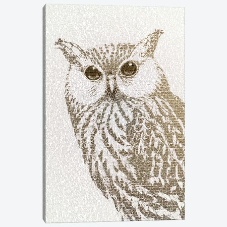 The Intellectual Owl II Canvas Print #PBF64} by Paula Belle Flores Art Print