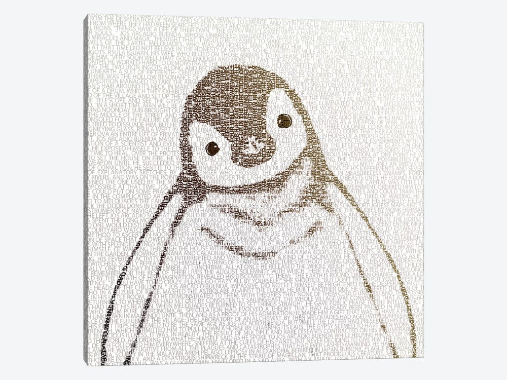 The Intellectual Penguin I by Paula Belle Flores 1-piece Canvas Print