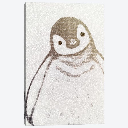 The Intellectual Penguin II Canvas Print #PBF66} by Paula Belle Flores Art Print