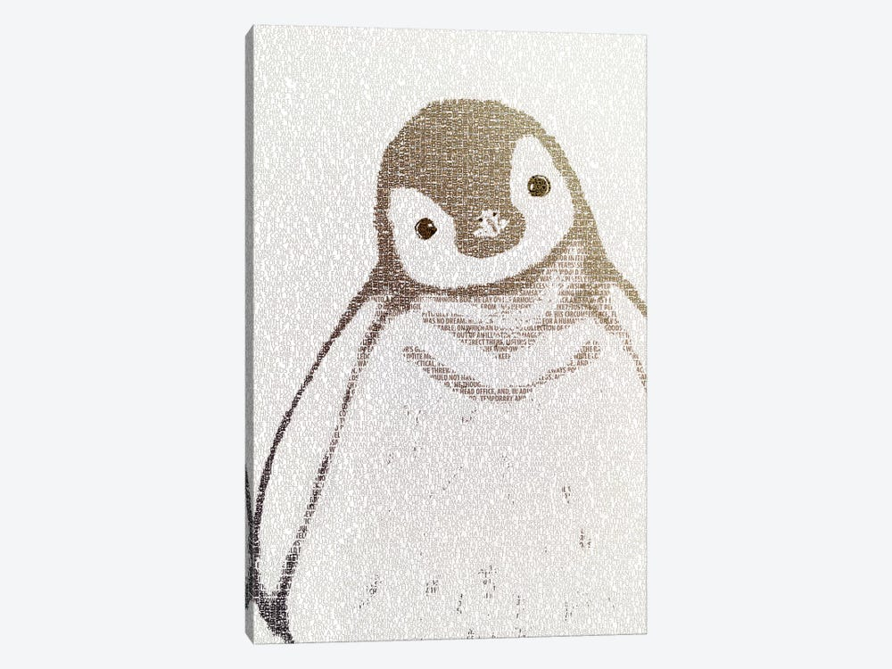 The Intellectual Penguin II by Paula Belle Flores 1-piece Canvas Artwork