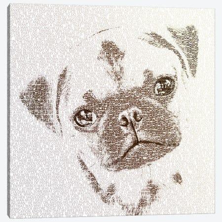 The Intellectual Pug Canvas Print #PBF67} by Paula Belle Flores Art Print