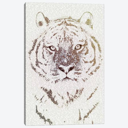 The Intellectual Tiger Canvas Print #PBF68} by Paula Belle Flores Canvas Artwork