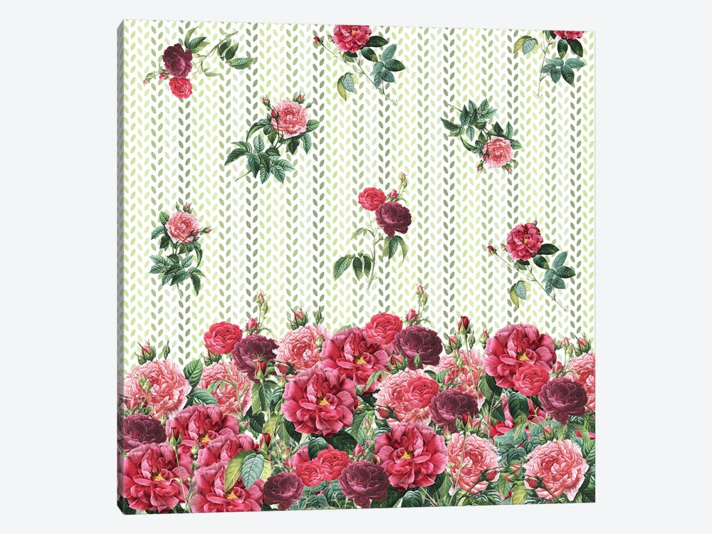 Decorative Vintage Roses by Paula Belle Flores 1-piece Canvas Art