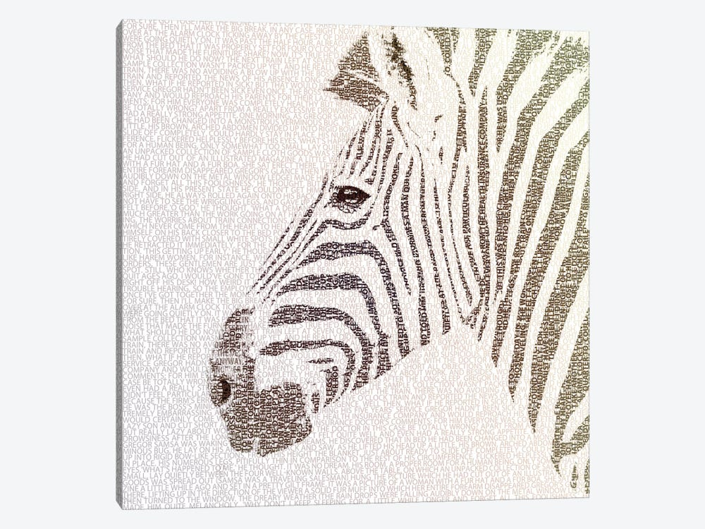 The Intellectual Zebra by Paula Belle Flores 1-piece Art Print