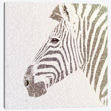 The Intellectual Zebra Canvas Print #PBF70} by Paula Belle Flores Canvas Art Print