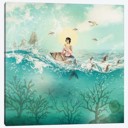 The Ocean Queen Canvas Print #PBF73} by Paula Belle Flores Canvas Art Print