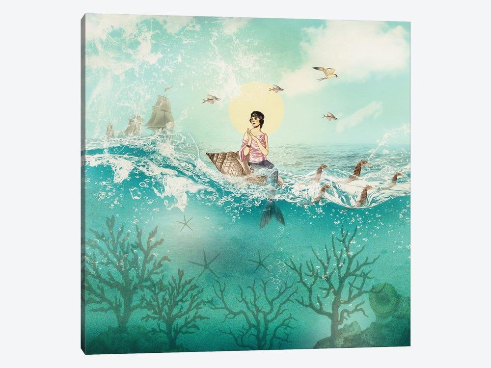 The Ocean Queen by Paula Belle Flores 1-piece Canvas Wall Art