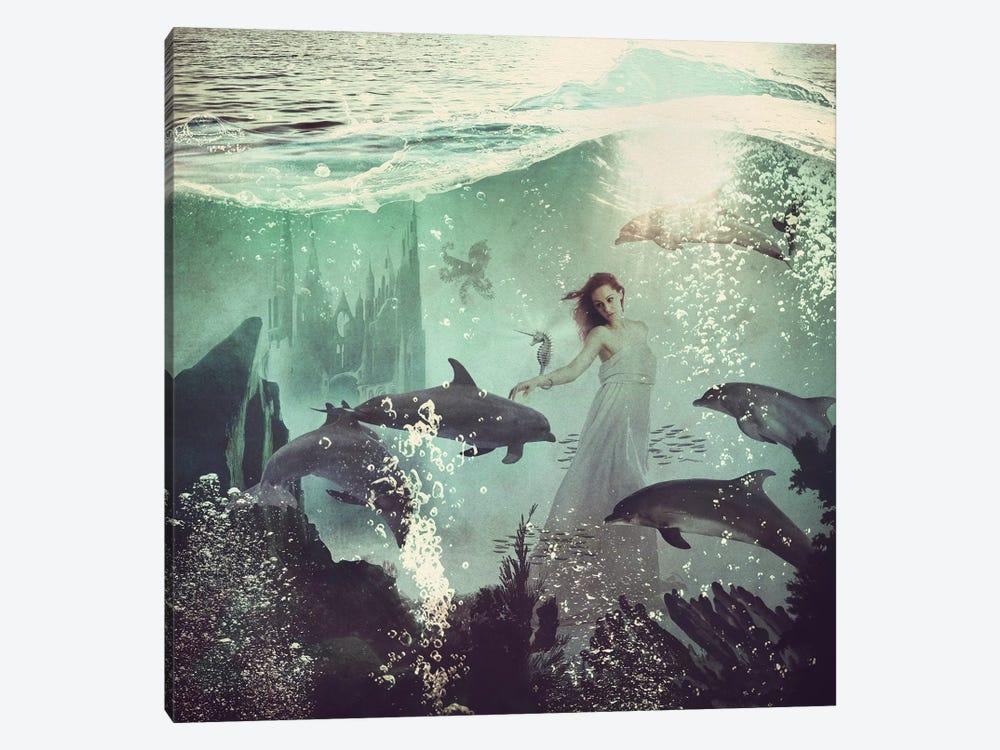 The Sea Unicorn Lady by Paula Belle Flores 1-piece Canvas Art