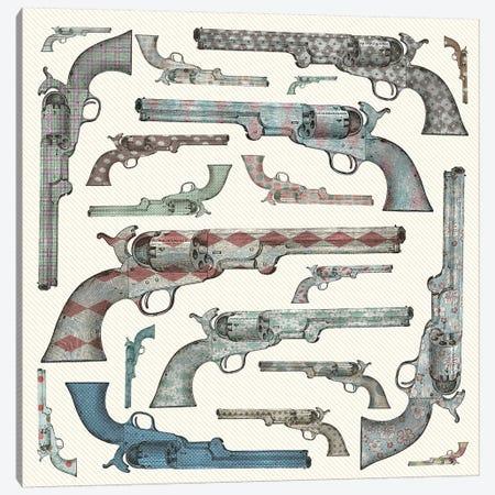 Vintage Pistols Canvas Print #PBF81} by Paula Belle Flores Canvas Art