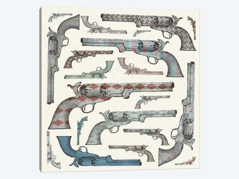 Vintage Pistols by Paula Belle Flores 1-piece Canvas Print