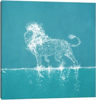 Water Lion Canvas Art Print