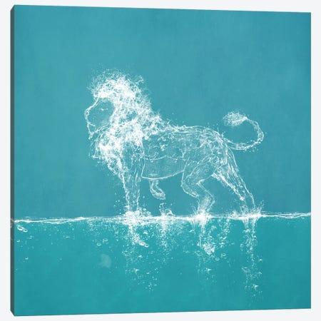 Water Lion Canvas Print #PBF86} by Paula Belle Flores Canvas Art Print