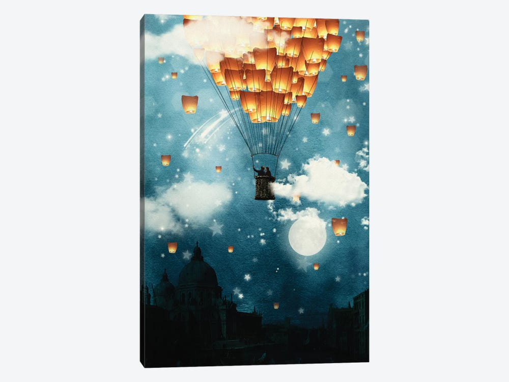 Where All The Wishes Come True by Paula Belle Flores 1-piece Canvas Print