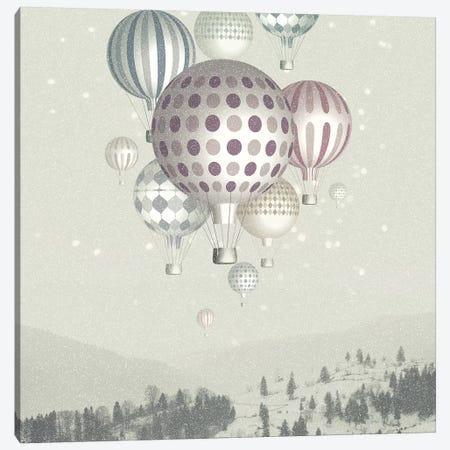 Winter Dreamflight Canvas Print #PBF88} by Paula Belle Flores Canvas Wall Art