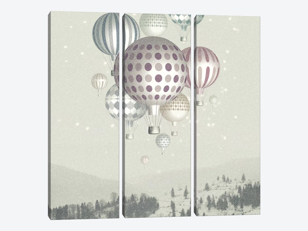 Winter Dreamflight by Paula Belle Flores 3-piece Canvas Artwork