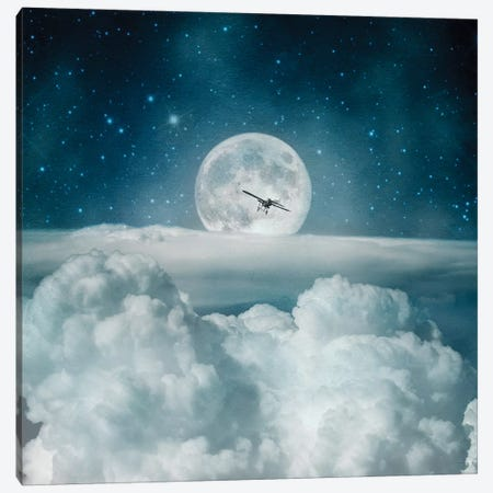 Fly Me To The Moon Toight Canvas Print #PBF90} by Paula Belle Flores Art Print