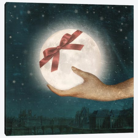 I Brought You The Moon Canvas Print #PBF92} by Paula Belle Flores Canvas Print