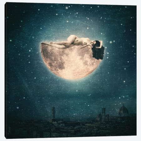 Moon Reverie Canvas Print #PBF95} by Paula Belle Flores Canvas Artwork