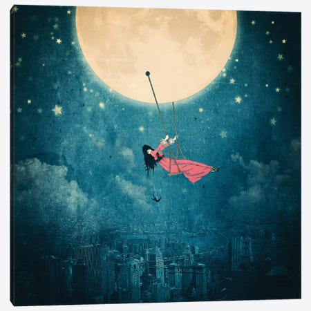 Moonswing Canvas Print #PBF96} by Paula Belle Flores Canvas Artwork