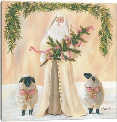 A Golden Christmas     Canvas Art Print