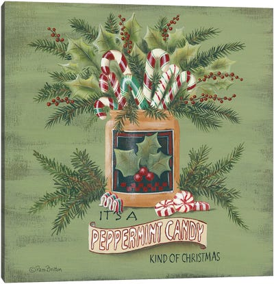 A Peppermint Christmas   Canvas Art Print
