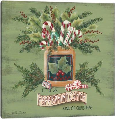 A Peppermint Christmas   Canvas Art Print