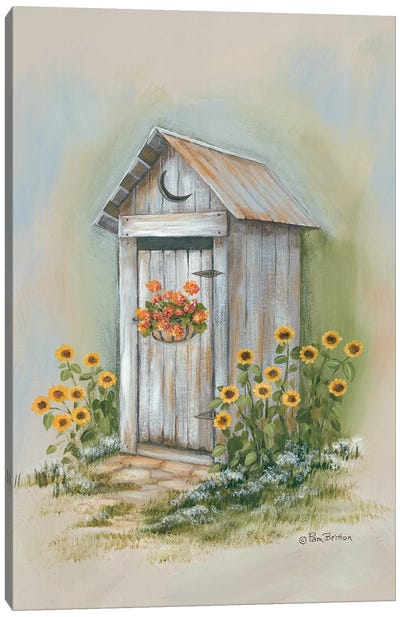 Country Outhouse I Canvas Art Print