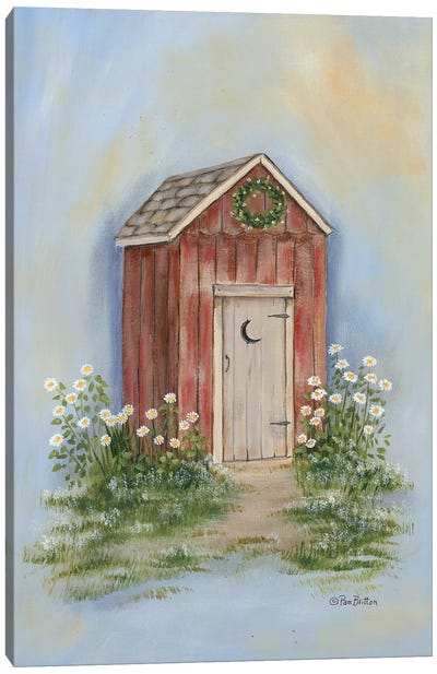 Country Outhouse II Canvas Art Print