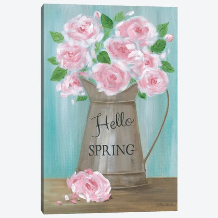 Hello Spring Roses Canvas Print #PBR17} by Pam Britton Canvas Artwork
