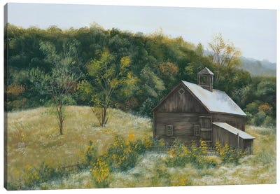 Barn in Vermont Canvas Art Print