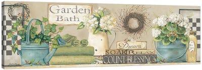 Garden Bath Canvas Art Print