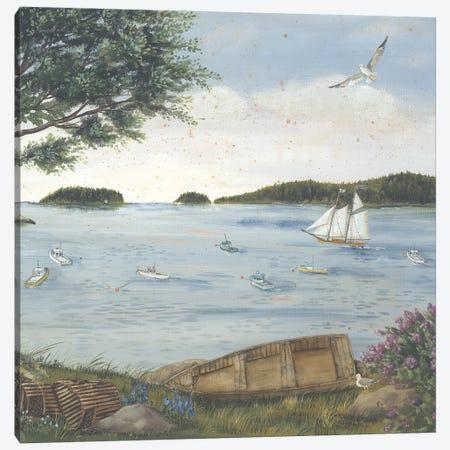 A Quiet Harbor Canvas Print #PBR25} by Pam Britton Canvas Print